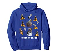 I Need My Space T-shirt Dinosaur T-rex Eat Planet Pizza Hoodie Royal Blue