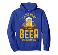 Funny Beer And Fishing Fathers Day Gift Adult Humor Shirts Hoodie Royal Blue
