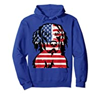 Funny Hovawart American Flag 4th Of July Shirts Hoodie Royal Blue