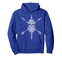 Vintage Sugar Skull Special Forces Military Tribute Design Shirts Hoodie Royal Blue