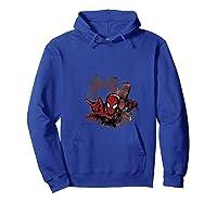 Marvel Spider-man In Splotch Portrait Collage Logo T-shirt Hoodie Royal Blue