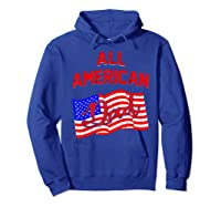 All American Dad 4th Of July Independence Day Shirts Hoodie Royal Blue