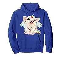 Cute Flying Unicorn Pig, Pigicorn Unipig Tshirt Hoodie Royal Blue