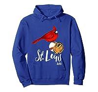 Saint Louis Red Cardinal Shirt 2019 Bird Player Hoodie Royal Blue