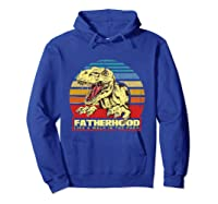 Fatherhood Like A Walk In The Park Father's Day Gif Shirts Hoodie Royal Blue
