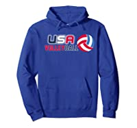 Usa And Volleyball For Athletes Shirts Hoodie Royal Blue