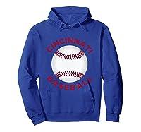 Classic Cincinnati Baseball Fan Retro Shirts Hoodie Royal Blue
