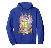 Snow Distressed Poster Style Graphic Shirts Hoodie Royal Blue