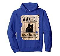 Funny Wanted Science Schrodinger's Cat Dead Or Alive Tshirts Hoodie Royal Blue