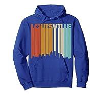 Louisville Retro Skyline City T Shirt Souvenir Skyline Hoodie Royal Blue