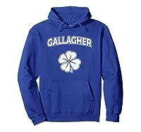Irish Clover Gallagher St Patrick\'s Pride Sleeves Shirt Hoodie Royal Blue