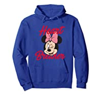 Disney Minnie Heartbreaker T Shirt Hoodie Royal Blue