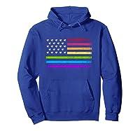 American Flag Rainbow Lgbt Lesbian Gay Pride Shirts Hoodie Royal Blue
