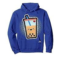 Boba Milk Tea Bubbles T-shirt Hoodie Royal Blue