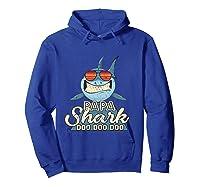 Papa Shark Doo Doo Funny Gift Dads Boss Man Shirts Hoodie Royal Blue