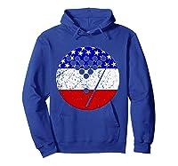 American Flag Billiards Vintage Retro Pool Shirts Hoodie Royal Blue