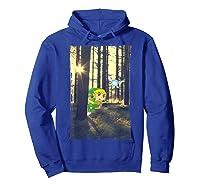 Nintendo Zelda Link And Navi Photo Real Forest Scene Shirts Hoodie Royal Blue