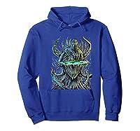 Flat Earth Monster Shirts Hoodie Royal Blue