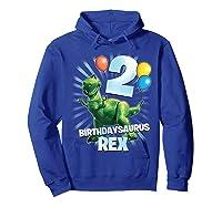 Disney Pixar Toy Story Birthdaysaurus Rex 2nd Birthday T-shirt Hoodie Royal Blue