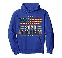 Trump 2020 No Collusion Shirts Hoodie Royal Blue