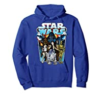S Classic Comic Art Group Shot Darth Vader Shirts Hoodie Royal Blue