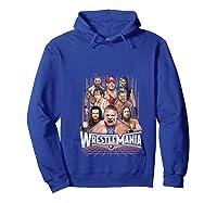 Wrestlemania Group Wwe T-shirt Hoodie Royal Blue