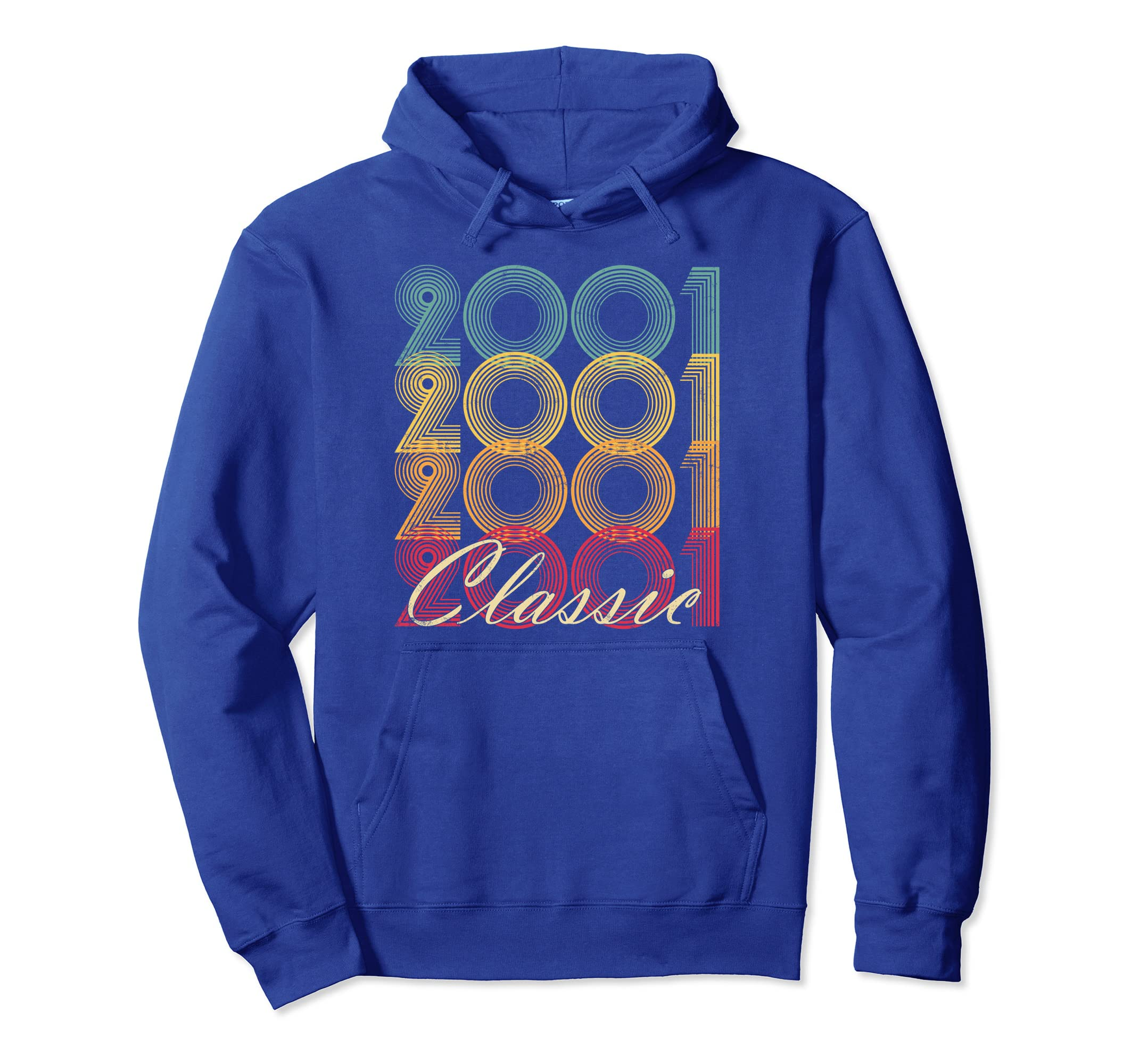 Classic 2001 17th Birthday Vintage Hoodie Retro 17 Gift-4LVS