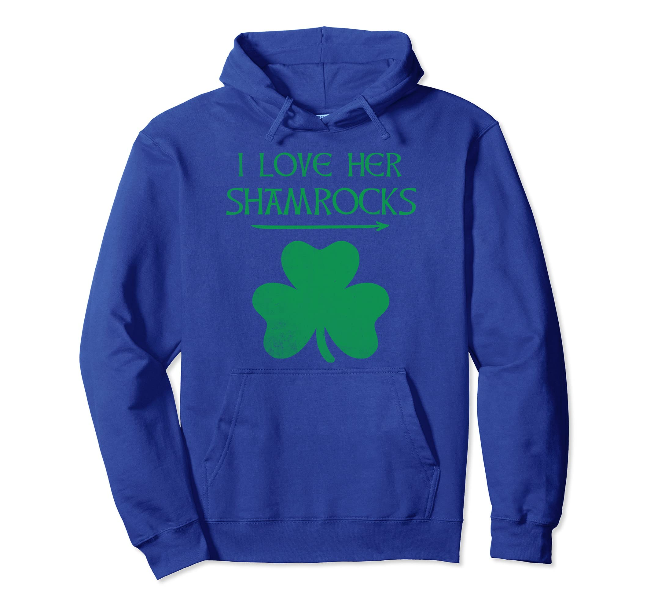 9c3b561db Amazon.com: Funny Couples St. Patty's Day T-Shirt I Love Her Shamrocks:  Clothing