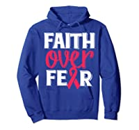 Faith Over R Breast Cancer Awareness Gift Shirts Hoodie Royal Blue