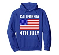 California Independence Day 4th July American Us Flag Gift Shirts Hoodie Royal Blue