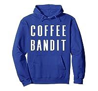 Coffee Bandit T Shirt Hoodie Royal Blue