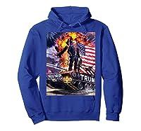 Donald Trump Gold Plated Shirt T-shirt Hoodie Royal Blue