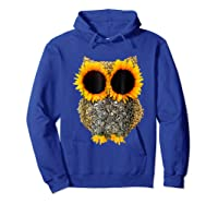 Owl Sunflower Shirt Funny Owl Lovers Shirt Hoodie Royal Blue