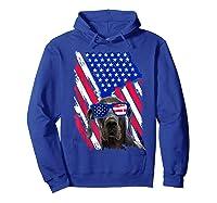 Vintage Great Dane Dog American Usa Flag Distressed Shirts Hoodie Royal Blue