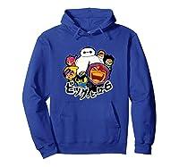Disney Big Hero 6 Team Of Superheroes Chibi T-shirt Hoodie Royal Blue