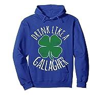 Gllgher St Patrick's Day Beer Irish Shirts Hoodie Royal Blue