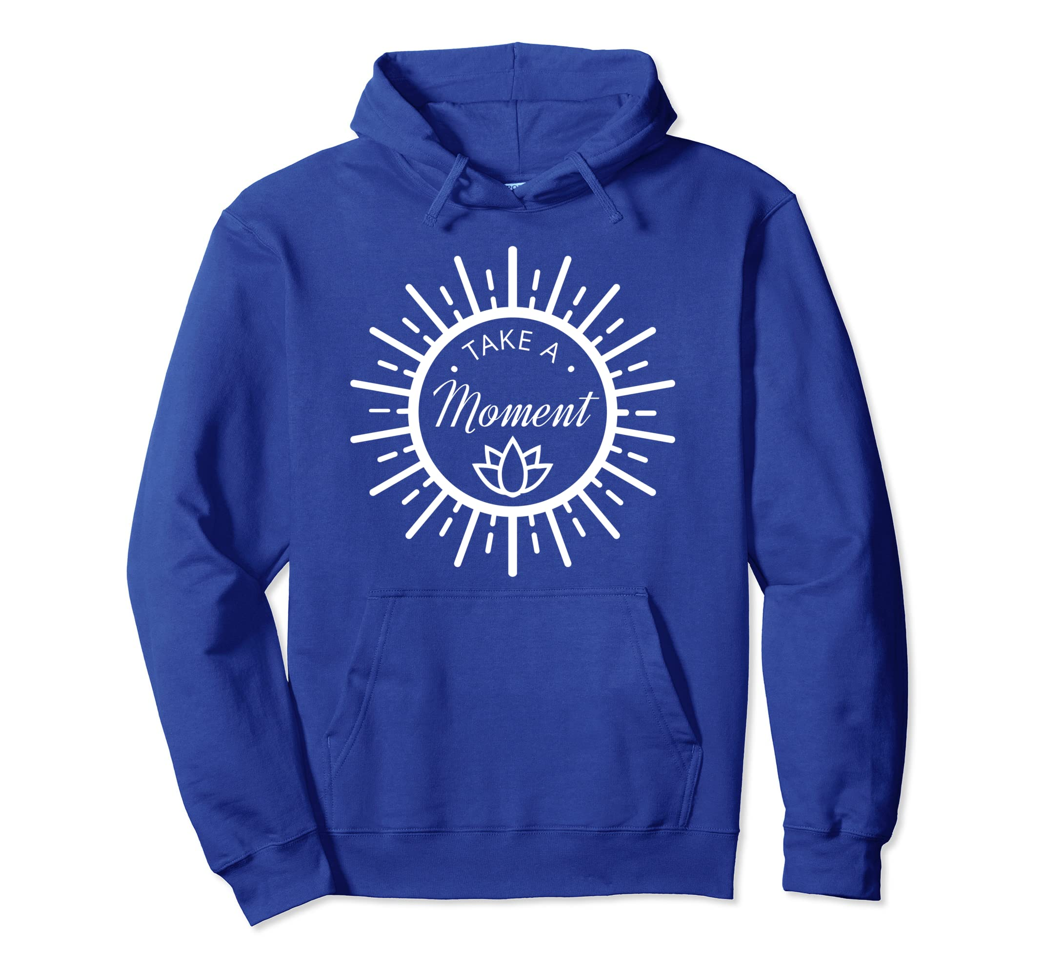 Amazon.com: Take A Moment Yoga and Wellness Pullover Hoodie ...