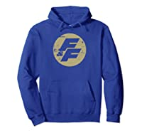 Fast Furious Distressed Beige Logo Ted Shirts Hoodie Royal Blue