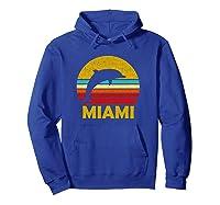 Retro Miami Dolphin Vintage Cute Pullover Shirts Hoodie Royal Blue