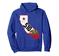 Oakland Area Code 510 California Distressed Gift Shirts Hoodie Royal Blue