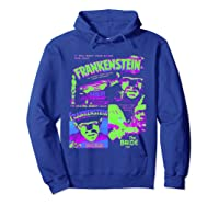 Frankenstein Colorful Collage Vintage Horror Movie Shirts Hoodie Royal Blue