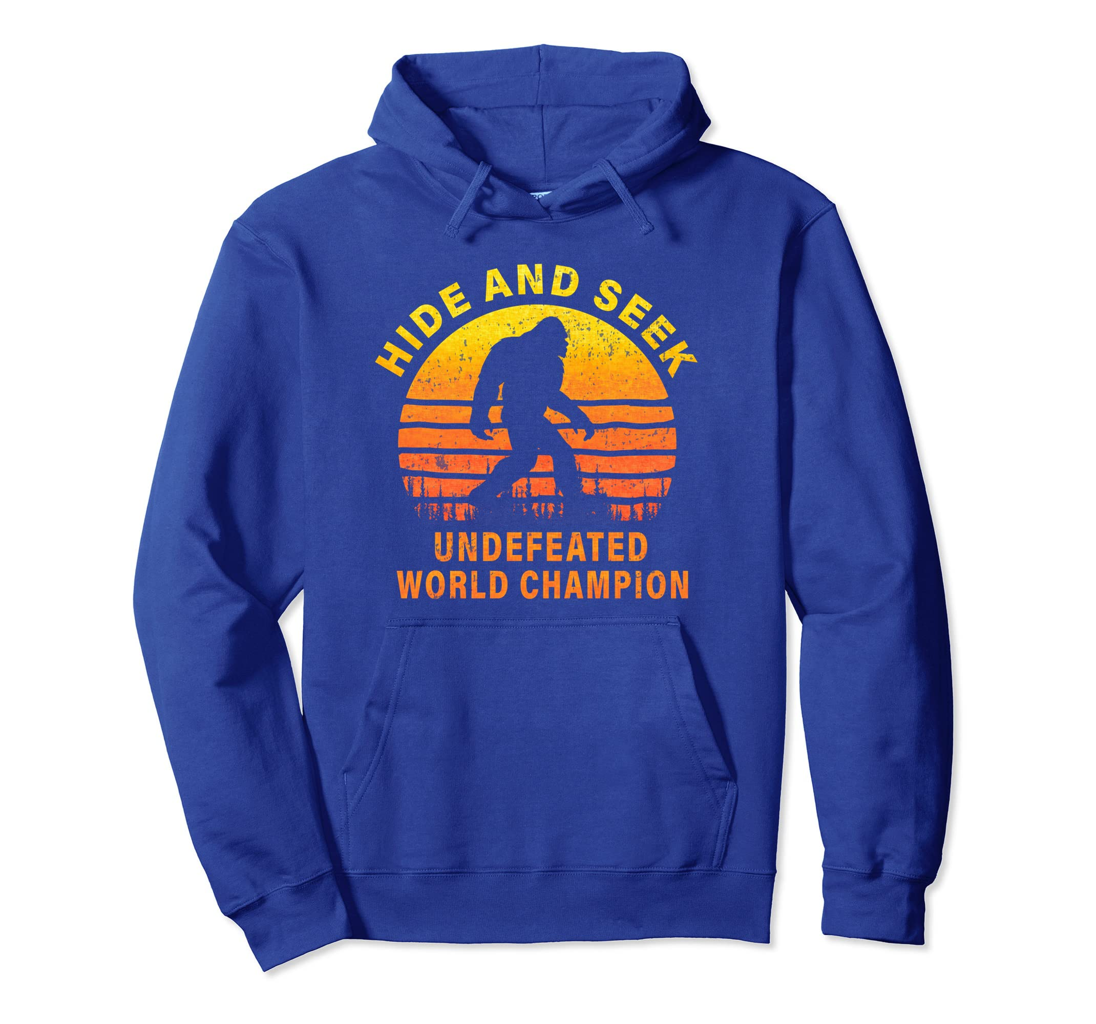 0172dcd7d Amazon.com: Undefeated Hide And Seek World Champion Bigfoot Hoodie: Clothing
