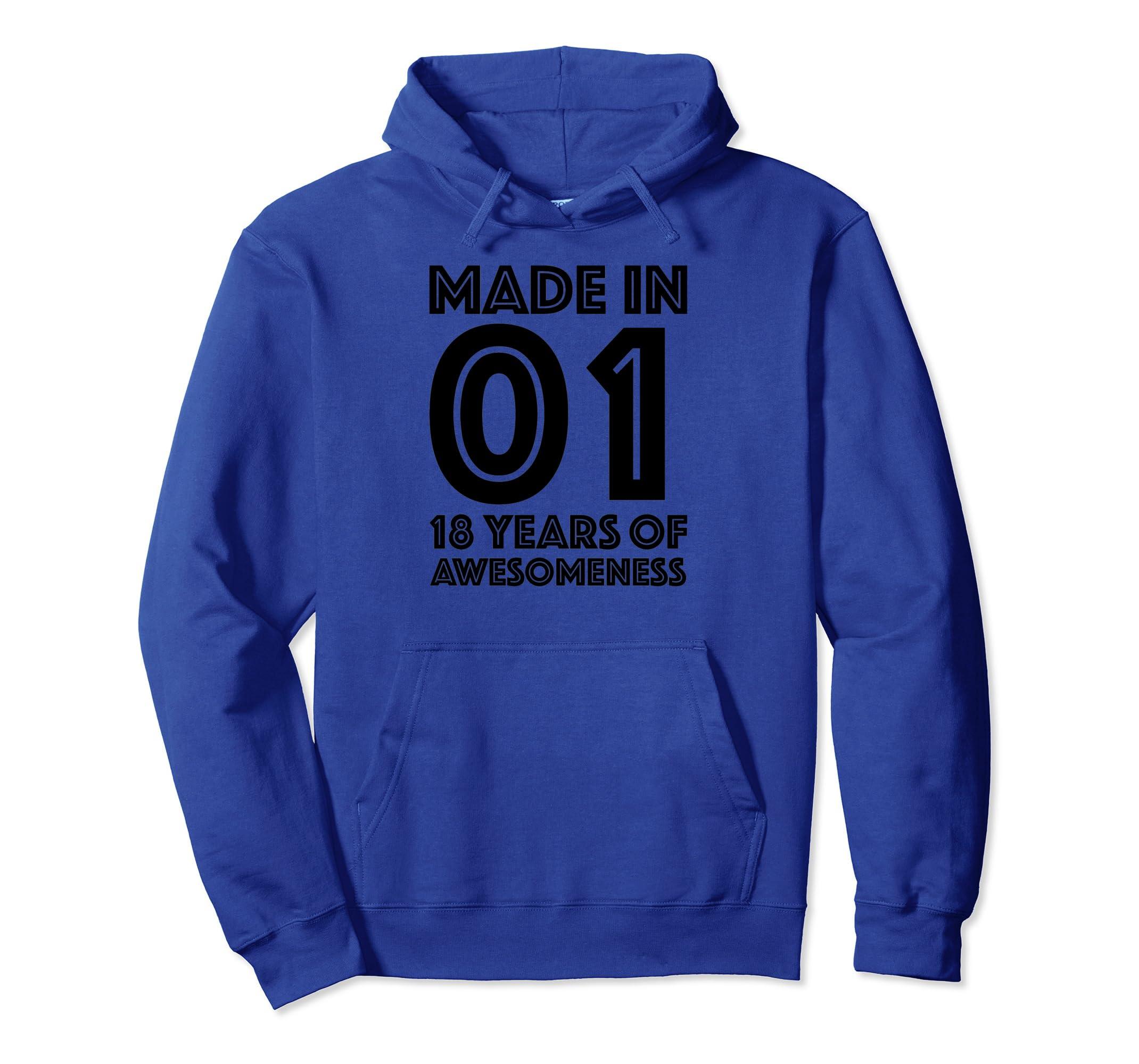 Amazon 18th Birthday Hoodie Boys Eighteen Gifts 18 Year Old Girls Clothing
