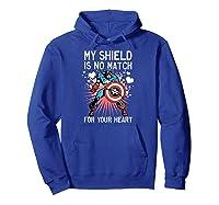 Marvel Captain America Shield Heart Valentine Shirts Hoodie Royal Blue