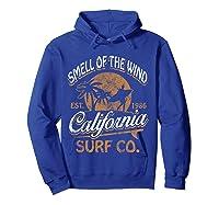 Retro Surf Shirt California Surfer Gift Cali Hoodie Royal Blue