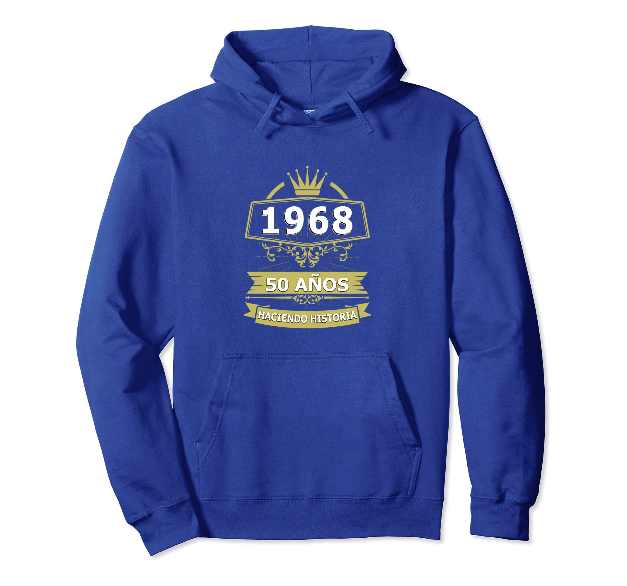 Amazon.com: Sudadera Cumpleanos 50 1968 50 Anos Haciendo Historia Hoodie: Clothing