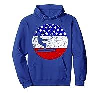 American Flag Waterskiing Vintage Retro Waterskiier Shirts Hoodie Royal Blue