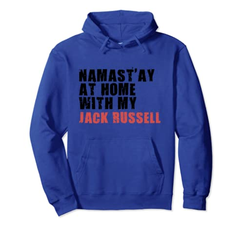 Namast'ay At Home With My Jack Russell Adc144g Pullover Hoodie