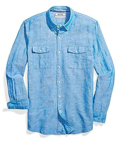 6ab0c75e154 Men's Linen Shirts: Amazon.com