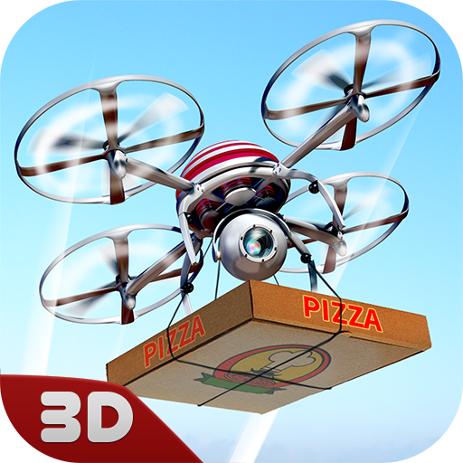 RC Pizza Delivery Drone: Multirotor Quadcopter Simulator   Food Delivery Flying Drone Game